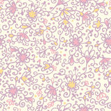 Abstract floral texture seamless pattern Stock Image