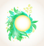 Abstract floral transparent background Royalty Free Stock Photos