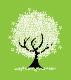 Abstract floral tree Royalty Free Stock Photos