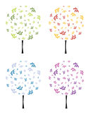 Abstract floral tree,  illustration Royalty Free Stock Images