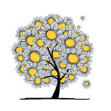 Abstract floral tree for your design Stock Images