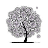 Abstract floral tree for your design Royalty Free Stock Image