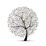 Abstract floral tree for your design Stock Image