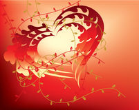 Abstract floral valentine hearts Royalty Free Stock Photos