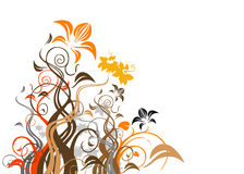 Abstract floral vector Royalty Free Stock Photos