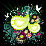 Abstract floral vector Stock Images