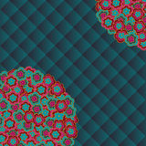 Abstract floral vector background. Colorful simple flowers Royalty Free Stock Photo