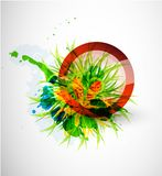 Abstract floral vector circle background Royalty Free Stock Photography