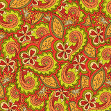 Abstract floral vector colorful ornate Royalty Free Stock Image