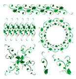 Abstract floral vector decoration ornament. On the white background Royalty Free Stock Images