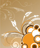 Abstract floral vector illustration. royalty free stock image