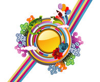 Abstract floral vector illustration Stock Images