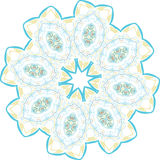 Abstract floral vector ornament Stock Photography