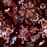 Abstract floral vector seamless pattern Stock Photography