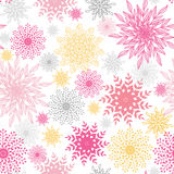 Abstract floral vignettes seamless pattern Stock Image