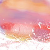 Abstract floral watercolor background Stock Images