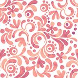 Abstract floral watercolor pattern. Hand drawn watercolor seamless pattern Stock Photo