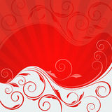 Abstract floral wave Royalty Free Stock Photos