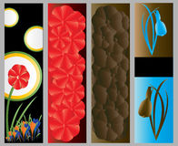 Abstract Floral Web Banners Royalty Free Stock Image