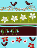 Abstract Floral Web Banners Stock Image