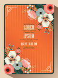 Abstract floral wedding invitation card background template Royalty Free Stock Photo