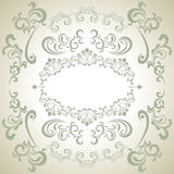 Abstract floral white frame Royalty Free Stock Photos