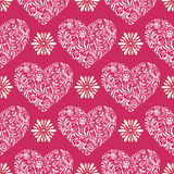 Abstract florall  hearts Royalty Free Stock Photo