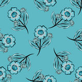 Abstract Floras pattern background. Stock Photo