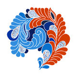 Abstract flourish design element. Freehand drawing Stock Images