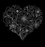 Abstract flourish heart Royalty Free Stock Photography
