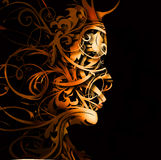 Abstract flourish portrait Stock Photo