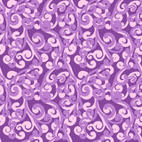 Abstract flourish seamless background. Gorgeous violet repeating pattern. Vector Stock Photos