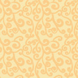Abstract flourish seamless pattern. Gorgeous pale orange repeating background. Vector Royalty Free Stock Photos