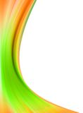 Abstract flow. Green orange abstract flow on white background stock illustration