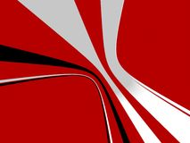 Abstract flow. Abstract forms on red backround Royalty Free Stock Images