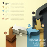 Abstract flow chart infographics. 3d vector abstract flow chart infographic elements Stock Image