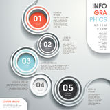 Abstract Flow Chart Infographics Royalty Free Stock Photography