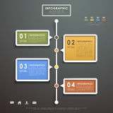 Abstract flow chart infographics. Modern vector abstract flow chart infographic elements Stock Photos