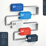 Abstract flow chart infographics. Modern vector abstract flow chart infographic elements Royalty Free Stock Photo