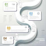 Abstract flow chart infographics Royalty Free Stock Images