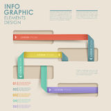 Abstract flow chart infographics Stock Images