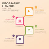 Abstract flow chart infographics Stock Image