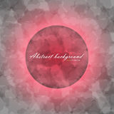 Abstract flow texture background. Glowing ring with colorful flow texture red color and inscription inside on gray abstract background Stock Photos