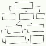 Abstract flowchart vector design Royalty Free Stock Image