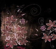 Abstract flower. Floral design, grunge abstract background Royalty Free Stock Photography