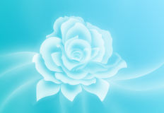 Abstract flower. Illustration of abstract flower on a soft blue background Stock Photos
