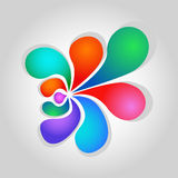 Abstract flower. Abstract background on white background Royalty Free Stock Photo