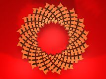 Abstract flower - 3D Royalty Free Stock Photos