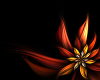 Abstract flower. Digitally generated abstract flower background Stock Photo