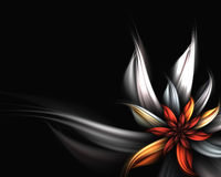 Abstract flower. Digitally generated abstract flower background Stock Illustration
